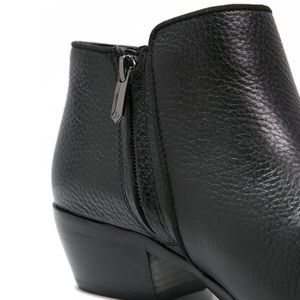Sam Edelman Shoes - Sam Edelman Stacked Heel Leather Ankle Booties